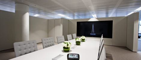"Panasonic 103"" Plasma in The Shard Marketing Suite with Crestron TPMC-8X"