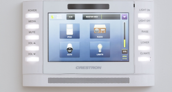 Fulham Road Chelsea Crestron TPMC-4SM Door Entry CCTV Multi-Room Audio and Crestron Lighting Control
