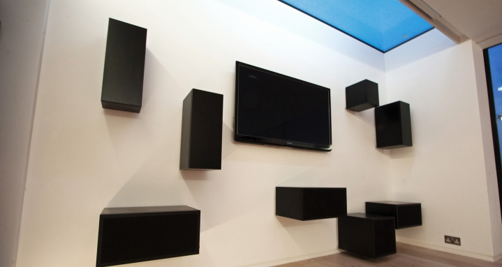 Panasonic Plasma with hidden Bowers & Wilkins loudspeakers
