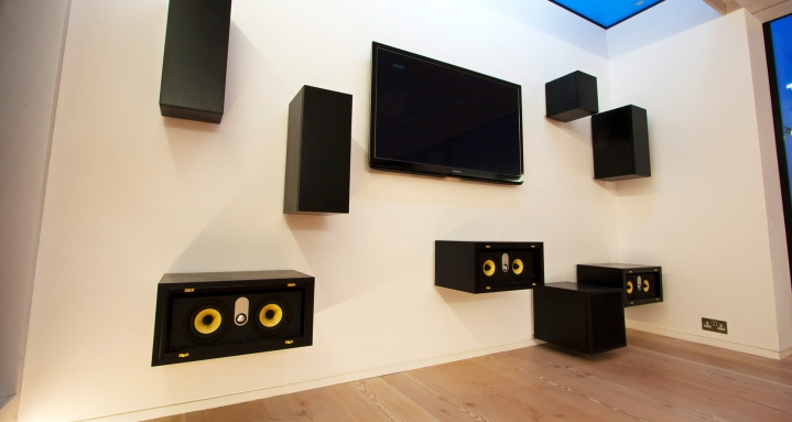 Panasonic Plasma with hidden Bowers & Wilkins loudspeakers revealed