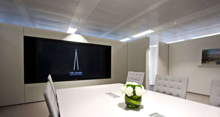 "Panasonic 103"" Plasma in The Shard Marketing Suite"