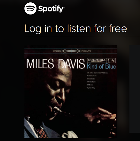 Spotify, jazz, Miles Davis, music, film, movies