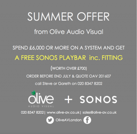 Sonos Playbar, Summer Offer